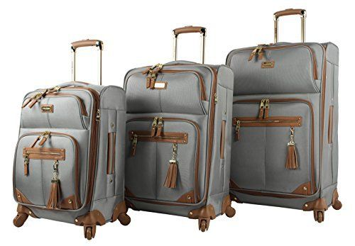 New Trending Luggage: Steve Madden Luggage 3 Piece Softside Spinner Suitcase Set Collection (One Size, Harlo Gray). Steve Madden Luggage 3 Piece Softside Spinner Suitcase Set Collection (One Size, Harlo Gray)  Special Offer: $249.99  444 Reviews Steven Madden Luggage Soft Side Luggage delivers great durability together with a fashionable design. It is made from polyester fabric to provide your...