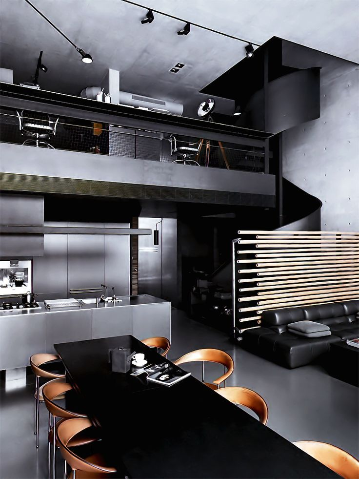 dark toned masculine bachelor pad interior design #interior #design  #masculine #bachelor