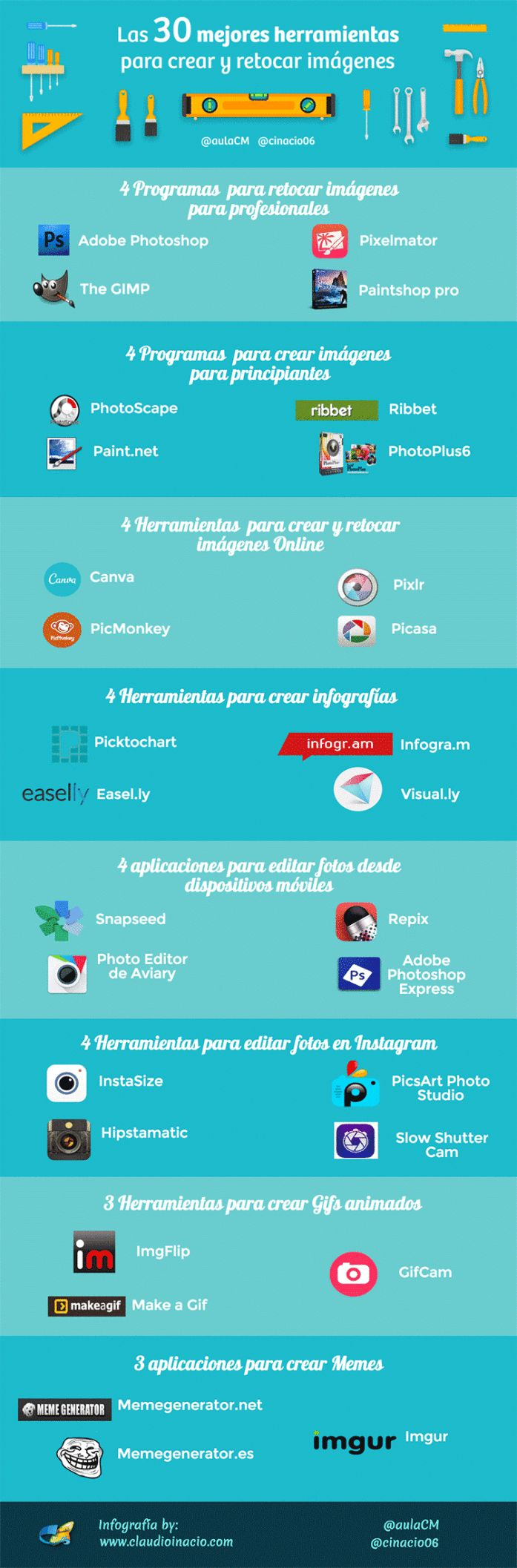 30HerramientasLíneaEditarImágenes-Infografía-BlogGesvin