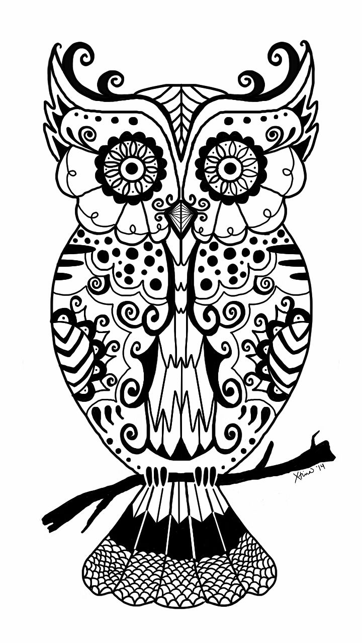 260 best owl coloring pages for adults images on pinterest