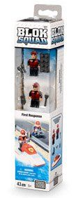 Mega Bloks Fire - Rapid Response Watercraft (43 pcs) by Mega Brands. $9.95. 43-pc set. 5 years +. All missions are possible with the Blok Squad Rapid Response PWC! Slide down the Fire Patrol pole, put on your firefighting wetsuit and build your Fire Patrol Rapid Response Personal Watercraft! This state-of-the-art rescue vehicle slices through the fresh and salt water with its powerful inboard impeller engine to help get your Firefighting team to any water emerg...