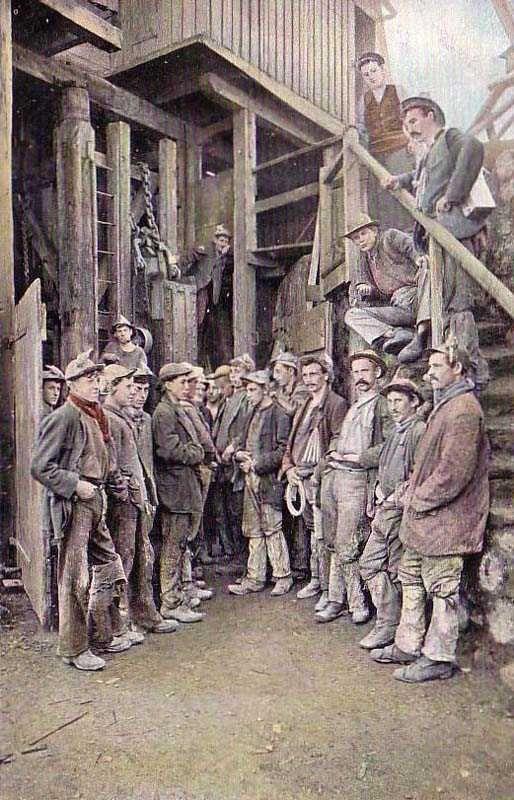 Cornwall, Redruth, Miners 1910's.jpg 514×800 pixels