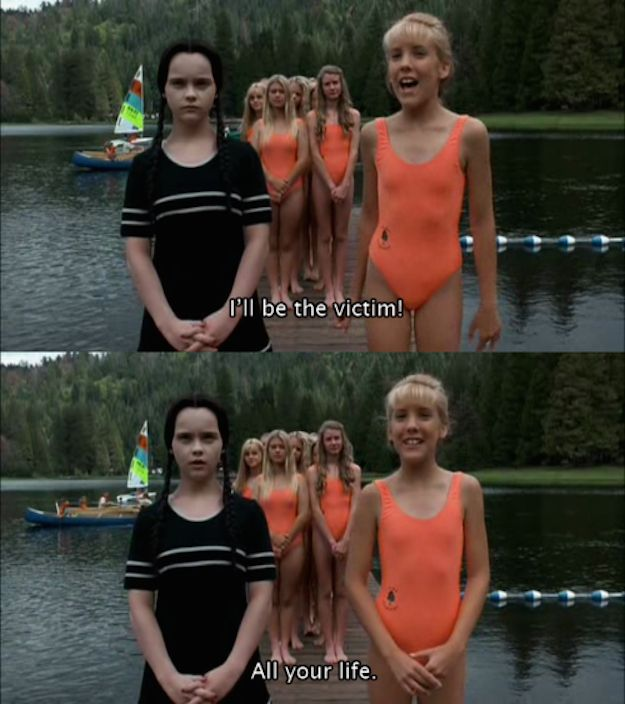 And tried to warn Amanda that all men are the same, and she should not heed them. | 19 Times Wednesday Addams Was A Total Misandrist