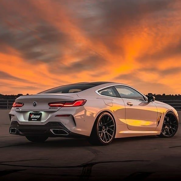 What A Crazy Cool Car The BMW M850i In The Sunset