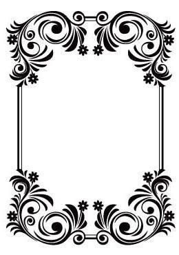 Crafts Too Floral Frame 4x6 Embossing Folder 3093-- great frame to put a real silhouette artists work in or your crafty home project.