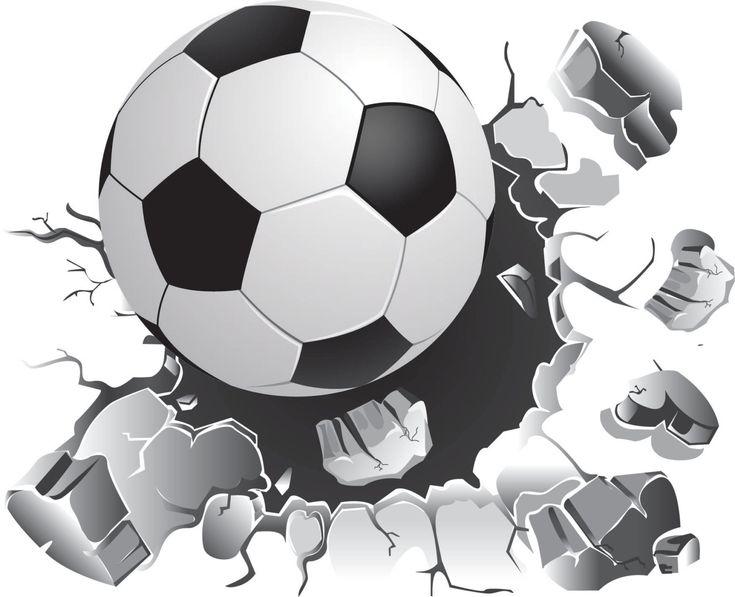 Luxury Soccer Ball Wall Decal Vinyl Wall Sticker Sports Decal Removable Wall Art Sport AbziehbilderWandtattoosFu ballRaue