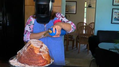 VIDEO: How to make your own honey baked ham for Easter  If a spiral-sliced ham is on your holiday menu, don't spend big bucks and precious time waiting in a long line at the specialty ham store.  http://www.sun-sentinel.com/features/deals-shopping/sfl-copy-cat-honey-baked-ham-recipe-for-easter-20150331-story.html