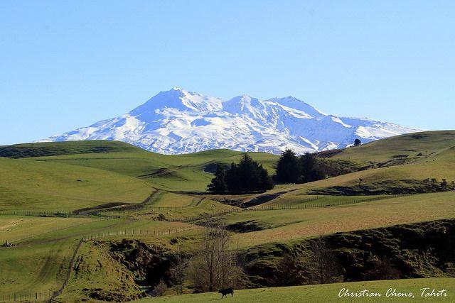 Mount Ruapehu at Waiouru, North Island, Mt ruapehu New Zealand