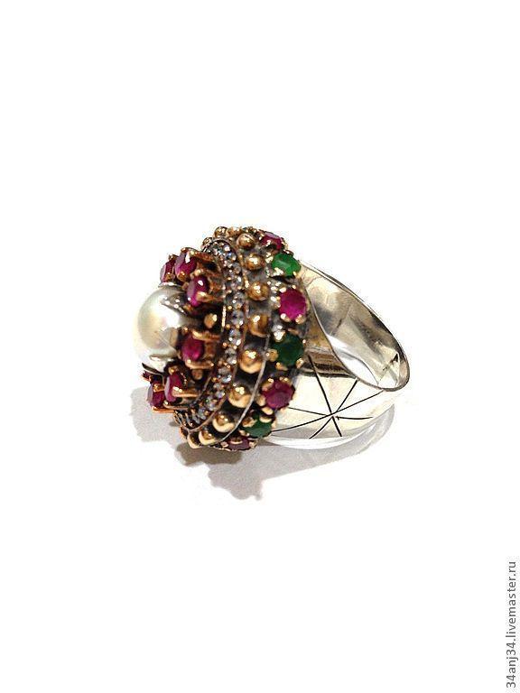 """Купить Кольцо """" Маркиза """" - Эксклюзивное кольцо, серебряное кольцо, кольцо с жемчугом"""