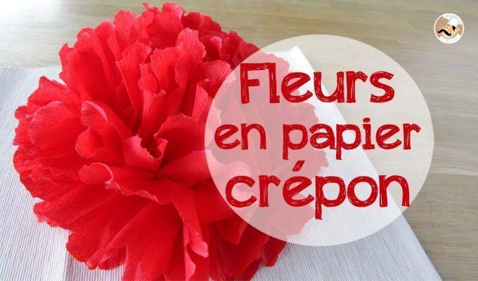 Fleur en papier crépon pour votre desk de fêtes !