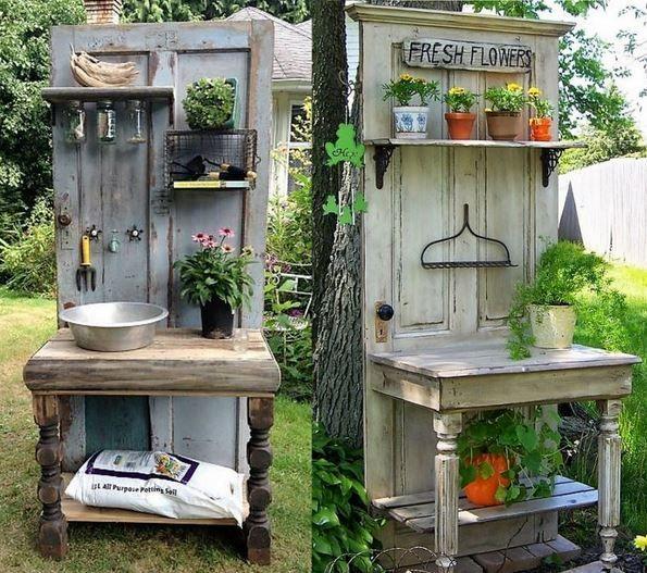 Ideen zum Recycling Ihrer alten Türen #alten #ide…