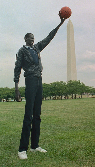 The one and only Manute Bol. I once got to see him play in person vs. the Seattle Sonics.