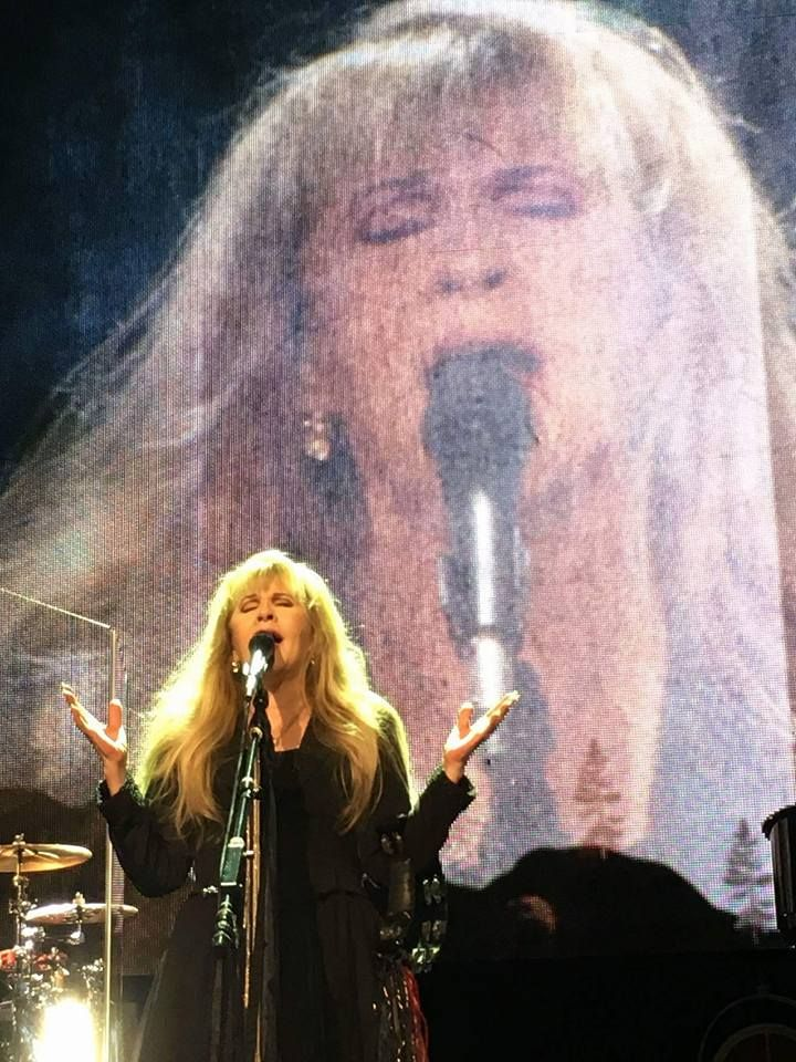 Stevie performing onstage   ~ ☆♥❤♥☆ ~    and Stevie in the big-screen backdrop ~ she puts so much effort into her songs, Bless her Gypsy heart ♥❤♥; a wonderful screen capture from during her '24 Karat Gold' Tour, 2016