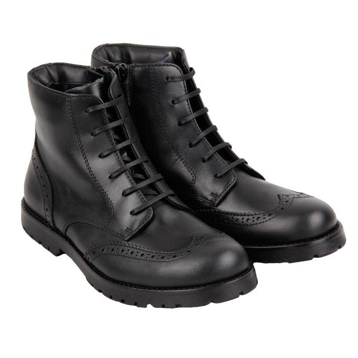 Ботинки Dolce&Gabbana черные, молния, классика