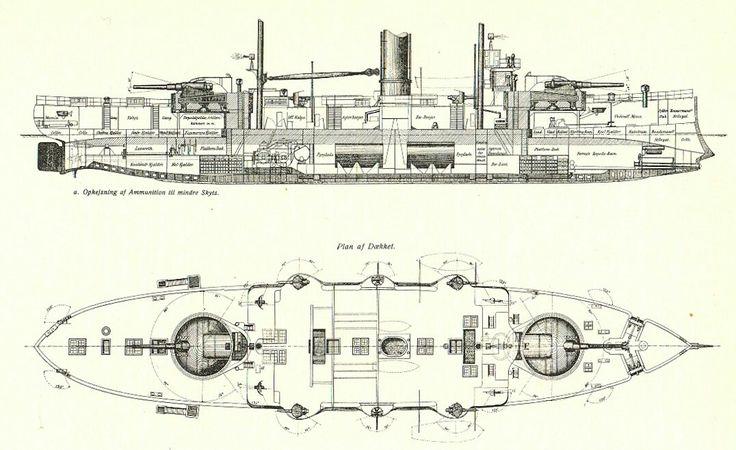 Coastal defence battleship/ironclad Iver Hvitfeldt