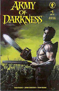 Dark Horse Comics Characters Female | Cover of Army of Darkness 1 (Nov 1992).