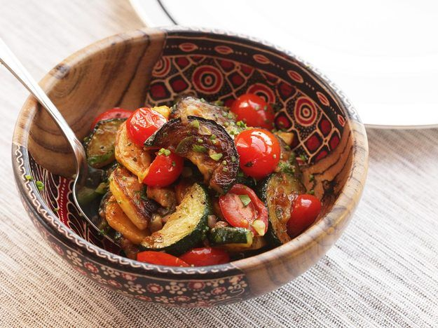 Easy Sautéed Zucchini, Squash, and Tomatoes with Chilies and Herbs
