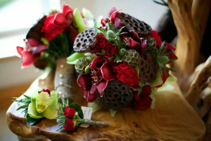 Bridesmaid Christmas bouquets