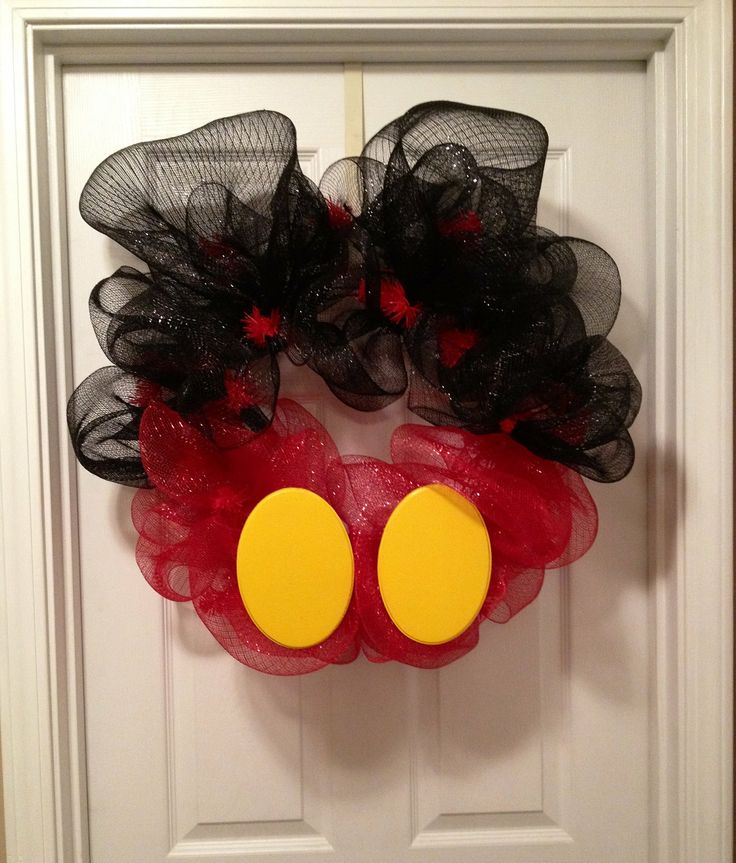 Mickey Mouse Deco Mesh Wreath.