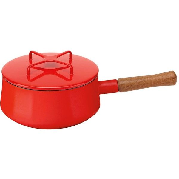 Lenox Kobenstyle 2-quart Chili Red Saucepan ($59) ❤ liked on Polyvore featuring home, kitchen & dining, cookware, red, lenox, red cookware, lenox cookware and oven safe cookware