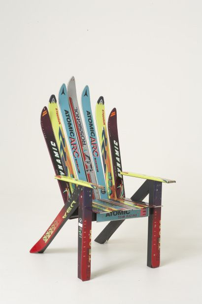 1000 images about ski chair on pinterest recycling upcycling and the old. Black Bedroom Furniture Sets. Home Design Ideas