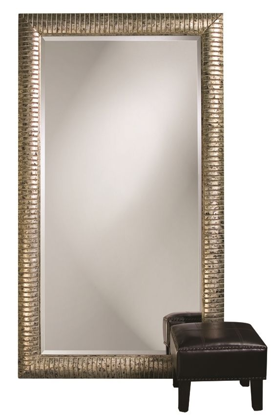 """FineHomeLamps.com - Daniel Silver Large Mirror by Howard Elliott - 48"""" x 84"""", $769.90 (http://www.finehomelamps.com/daniel-silver-large-wall-or-floor-mirror.html/)"""
