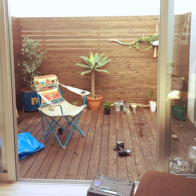 Eijiさんの、部屋全体,観葉植物,ダイソー,DIY,一人暮らし,テラス,多肉植物,ウッドデッキ,流木,ヴィンテージ,アルミ,LOGOS,サーフスタイル,テラス遊び!,のお部屋写真