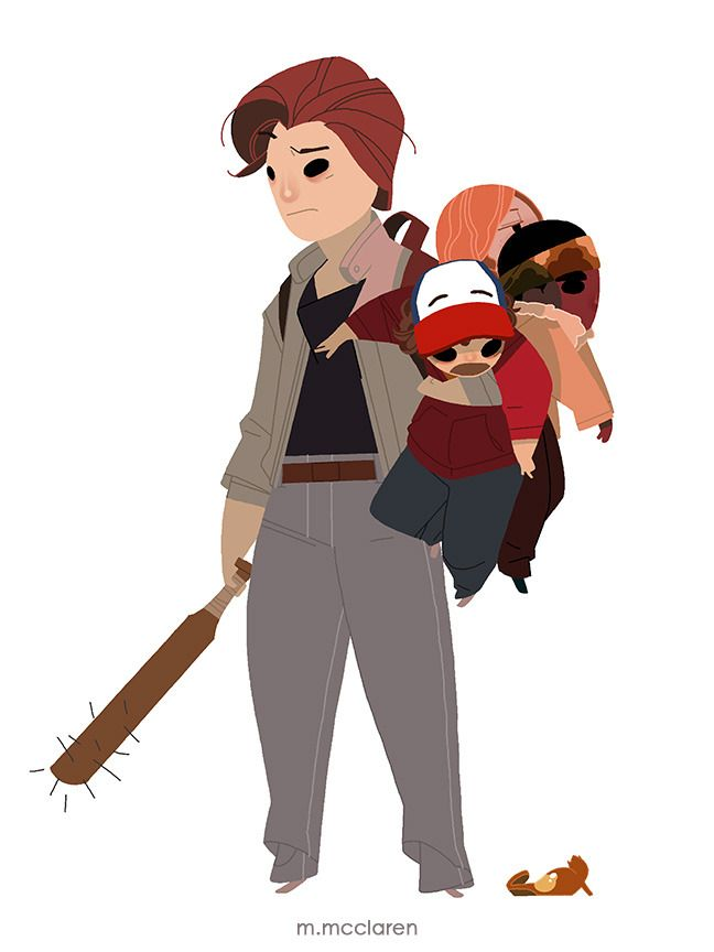 'These my shithead babies now.' All Characters belong to Stranger Things . Artwork by Meredith McClaren
