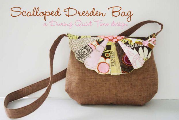 SITE - Plus de 20 free patrons de sacs ! Scalloped Dresden Bag Pattern by Amy Friend
