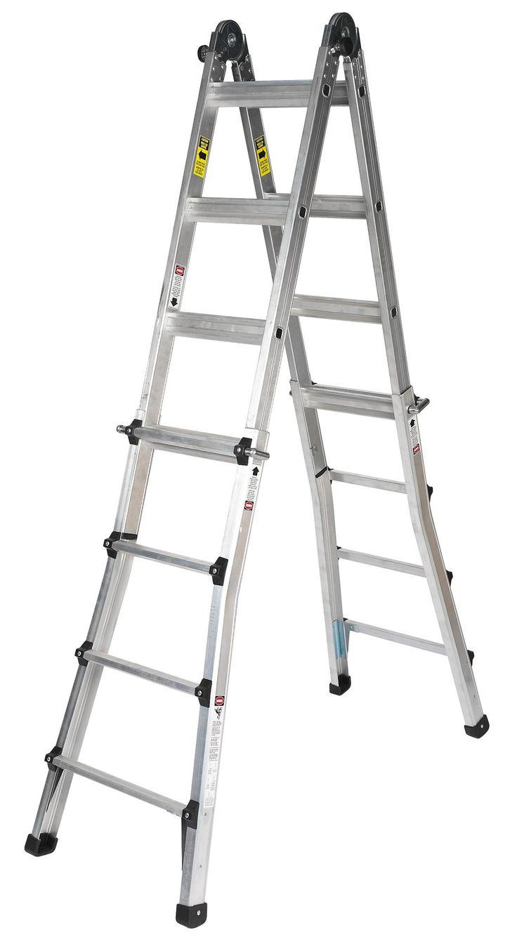 B&Q Aluminium 2-Way Telescoptic Combination Ladder (H) 3.4 M | Departments | DIY at B&Q