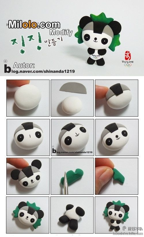 Fimo or Polymer Clay Panda Tutorial