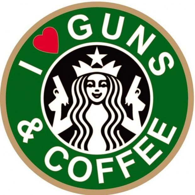 I <3 Guns & Coffee, but surprisingly not at the same time, you need a steady hand when you aim