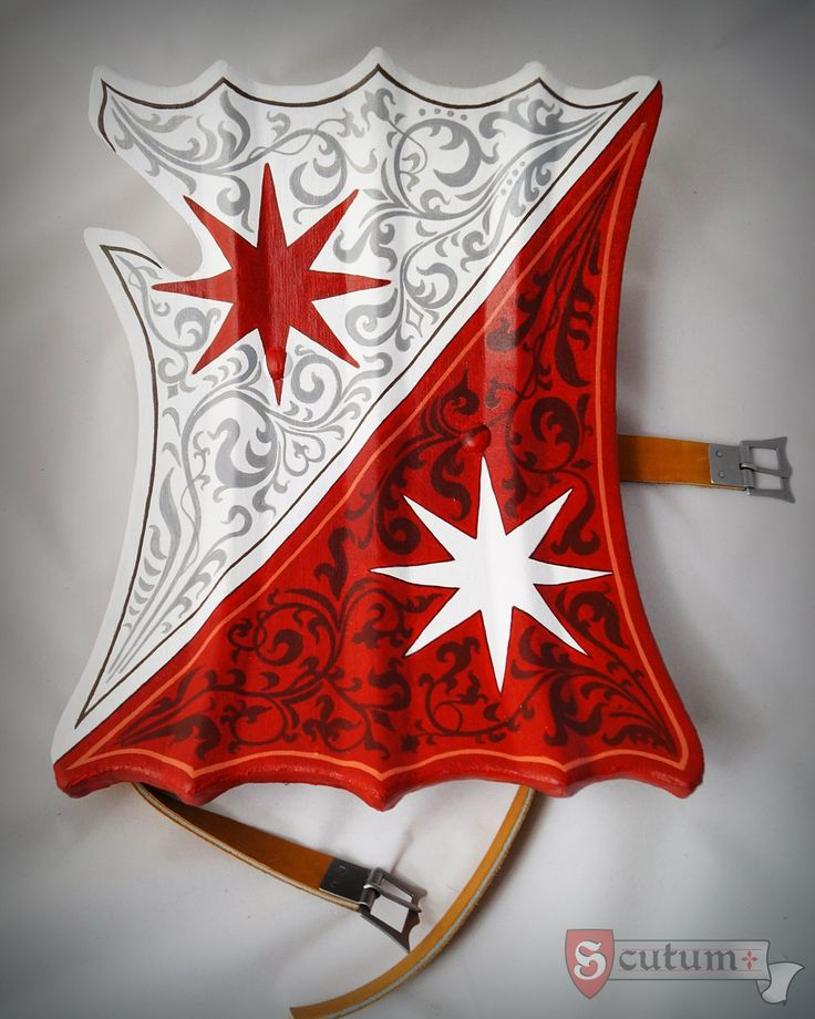 Our bouched jousting shield. Three ridges on the surface