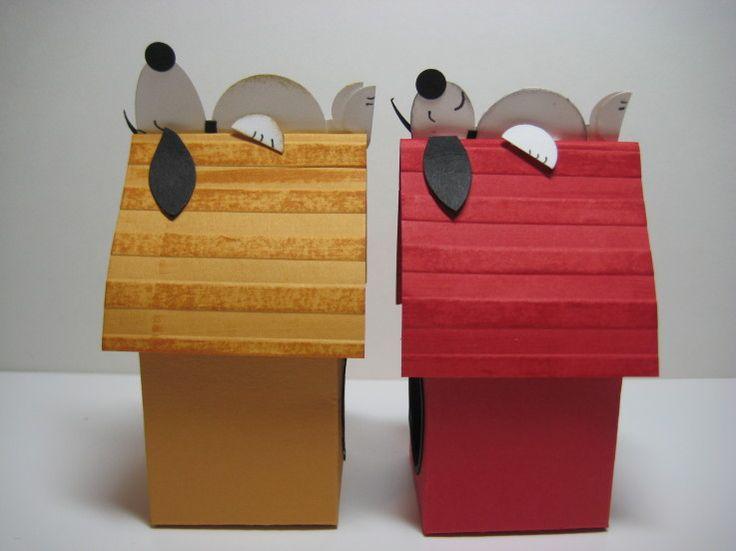 Stampin' Up!  Milk Carton  Danee Hoang  Snoopy's Dog House: Snoopy Houses, Danes Stampin, Milk Cartons, Punch Art, Oval Faces, Cartons Die, Minis Milk, Paper Crafts, Danee Stampin