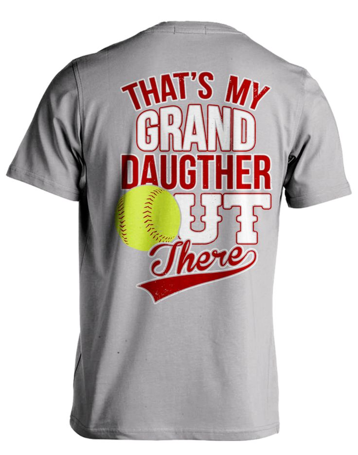 """Pick your favorite style:  Are you proud of your softball playing Granddaughter? Now you can show it with this Super Cool """"Softball Grandparent"""" design!"""