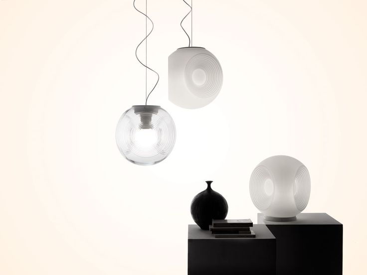 Eyes is a pendant Lamp with a spherical diffuser made from glass designed by Matali Crasset for Fabbian This year 2015 | @matalicrasset @fabbian #designbest |