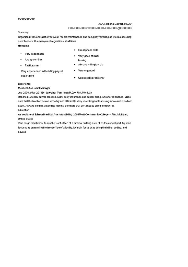 Medical assistant manager resume how to create a medical