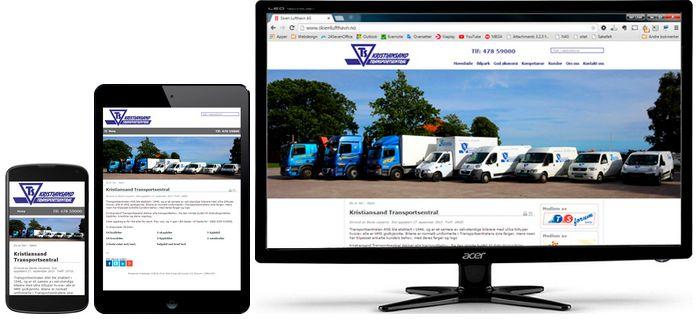 Transportsentralen i Kristiansand har også fått levert  mobilvennlig design av Web Norge.