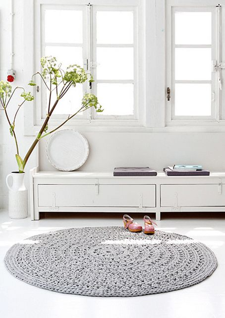 Love the crocheted rug