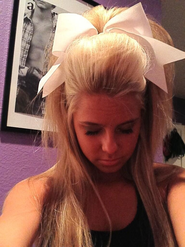 Cheerleader Hairstyles that perfect cheer hair Oh The Hair For Cheerleading