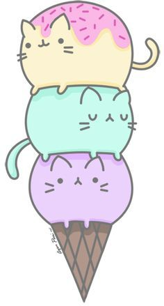 Bolas de helado. Primer intento de dibujo con vectores. Kitty Cats, Drawings, Cat Cones, Dibujos ️, Drawings, Cat Icecream, De Kawaii, Cat Kawaii