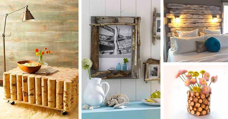 Arredare la casa con tronchi e rami: 26 idee di decorazione naturale