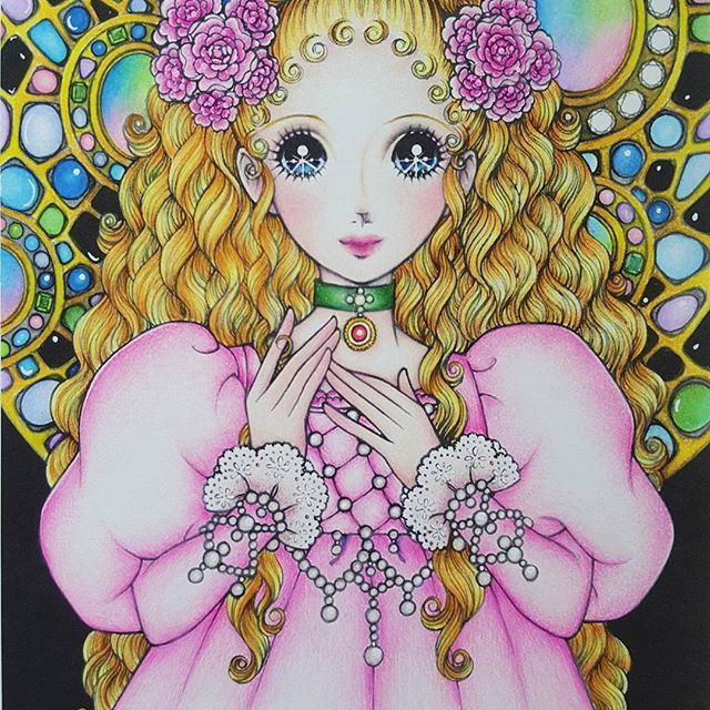 Something easy and real quick for the weekend. Hope you guys had a wonderful weekend.❤🌹 Beautiful girl from Macoto Takahashi Colouring book. . . . #macototakahashi #art #adultcoloring #adultcolouring #arte_e_colorir #jardimsecreto #nossojardimsecreto #adultcolouringbook #japanesecolouringbook #coloring_secrets #bayan_boyan #colorindolivrostop #boracolorirtop #adultcoloringforum #coloriagepouradulte #desenhoscolorir #prazeremcolorir #colorindomeujardimencantado #majesticcoloring #大人の塗り絵…