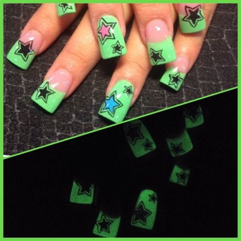 19 best glow in the dark nail art images on pinterest dark nail glow in the dark by oli123 nail art gallery nailartgalleryilsmag by prinsesfo Gallery