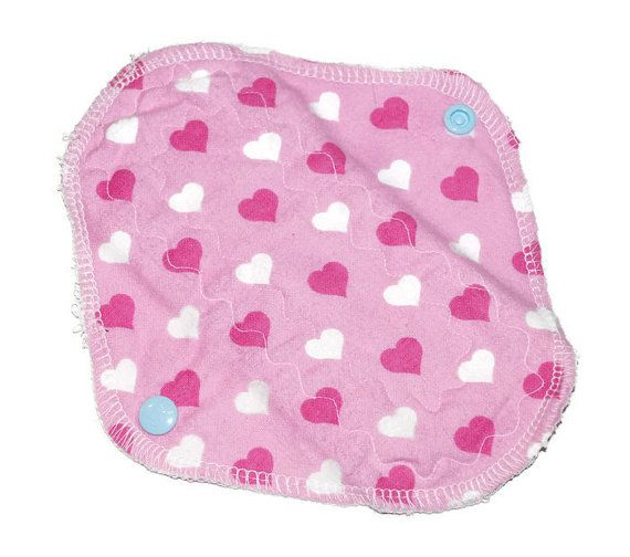 Pink heart pantyliner by leonorafi on Etsy