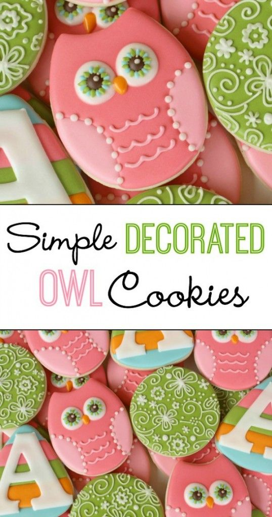 How to Decorate Simple Owl Cookies