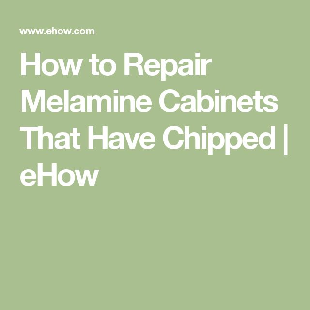 How to Repair Melamine Cabinets That Have Chipped | eHow