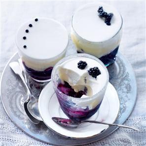 Blackberry, marshmallow and mascarpone trifles Recipe | delicious. Magazine free recipes