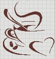 "Cross-stitch Coffee or Tea Good Enough for Me...      Gallery.ru / TIMOSHAVA - Album ""CONTOUR, MONOCROMATICO"""