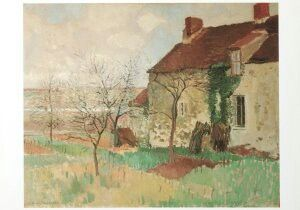 Painting - farmhouse in Southern France. GW van Blaaderen
